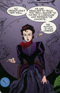 Mina Harker, a character originally from Bram Stoker's 1897 novel Dracula, as featured in the League of Extraordinary Gentlemen comics by Alan Moore and Kev O'Neill