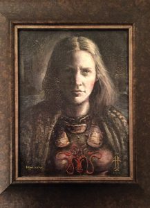 Yara Greyjoy Oil on wood panel