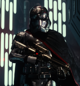 Captain Phasma, a Stormtrooper officer in The Force Awakens (source: Starwars.com)
