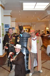Fourth, Seventh and Fifth Doctors (and a Dalek)