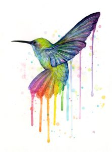 hummingbird-watercolor-rainbow