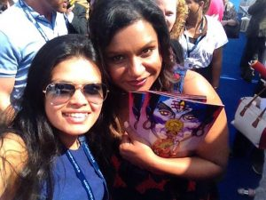 Actress Mindy Kaling (right) with Priya's Shakti voice actress Shubhra Prakash. (Image ©Shubhra Prakash. Follow her @Durkhaima)