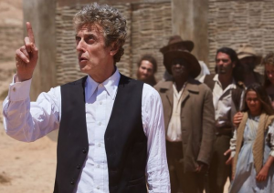 The Doctor defends the Outsiders on Gallifrey