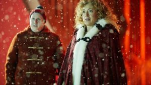 Matt Lucas and Alex Kingston as Nardole and River Song