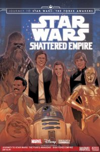 The cover art of the first issue of Shattered Empire by Phil Noto (source: Marvel.com)