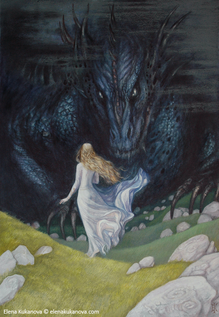 Nienor and Glaurung by Ekukanova on Deviant Art
