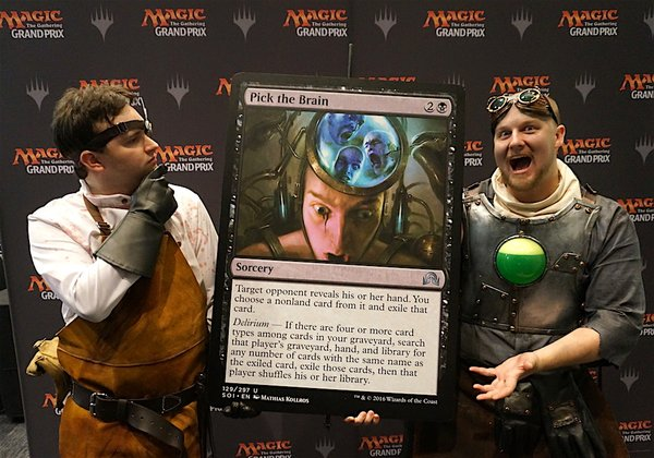 The mad scientists are certainly part of flavour of the classic horror. (source: Magic: The Gathering official twitter - https://twitter.com/wizards_magic)