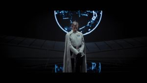 Ben Mendelsohn as the so-far-unknown high Imperial officer