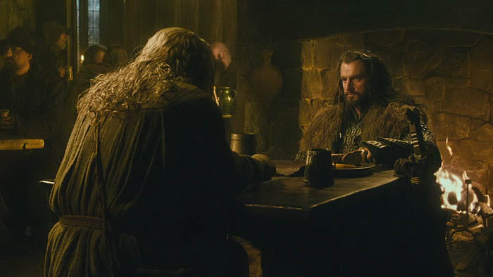 Thorin and Gandalf in Bree