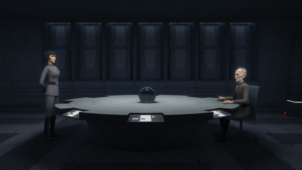 Governor Pryce requests for the assistance of Seventh Fleet and admiral Thrawn himself from moff Tarkin (image source: starwars.com)