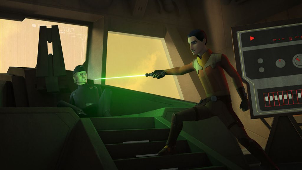 On Reclam station, Ezra encounters commander Titus, whom we last saw overseeing secret Imperial weapon in the episode Stealth Strike (image source: starwars.com)