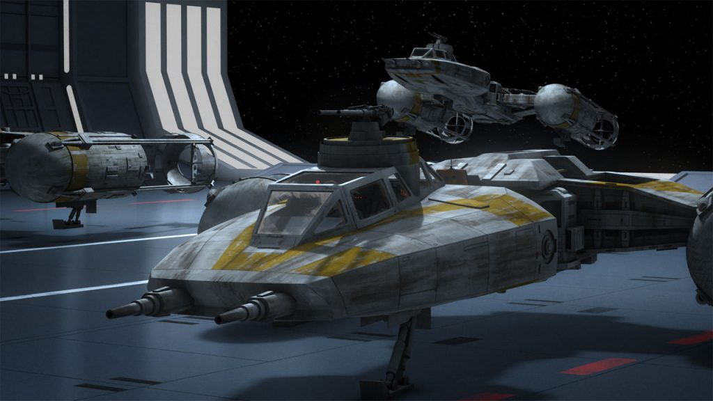 The Y-wing bombers which are later going to play key role in the Battle of Yavin (image source: starwars.com)