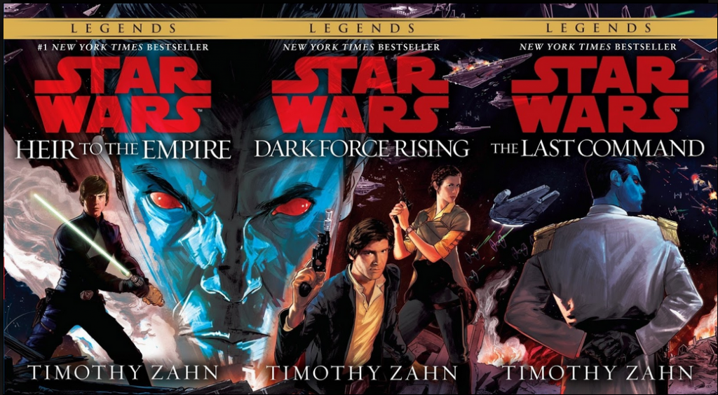 Covers for the new edition of Thrawn trilogy, art by Rich Kelly