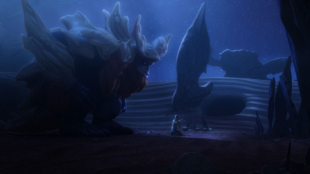 The journey to retrieve the holocron together is an important moment of understanding and renewing the trust between the master and the apprentice, or as Bendu puts it, to rediscover their balance. (image source: starwars.com)