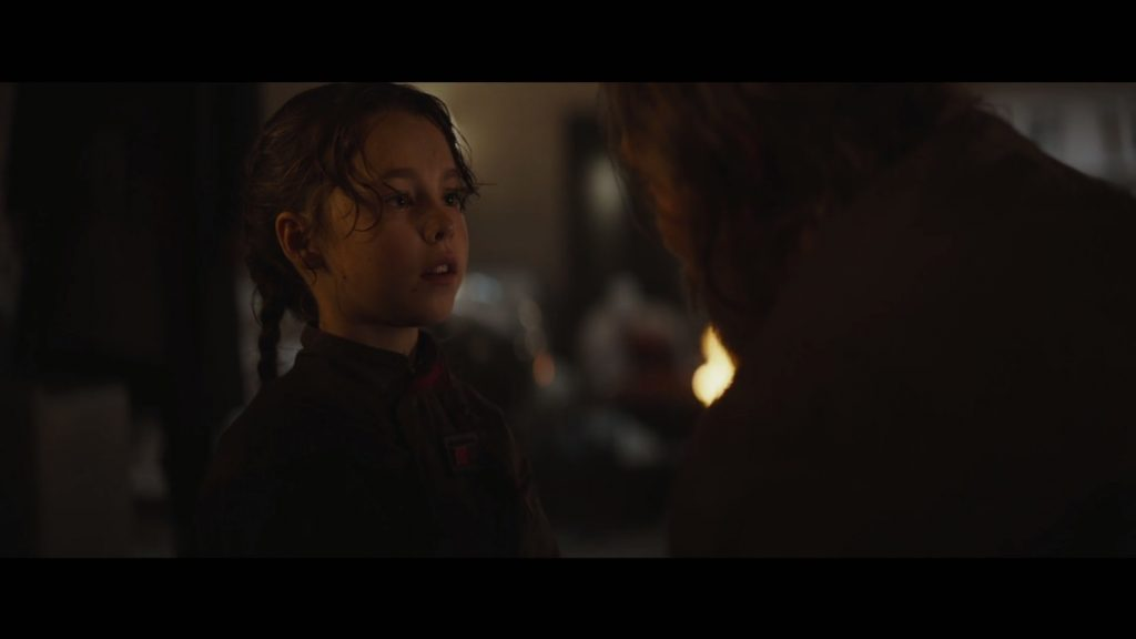 Little Jyn and her father, the scientist Galen Erso