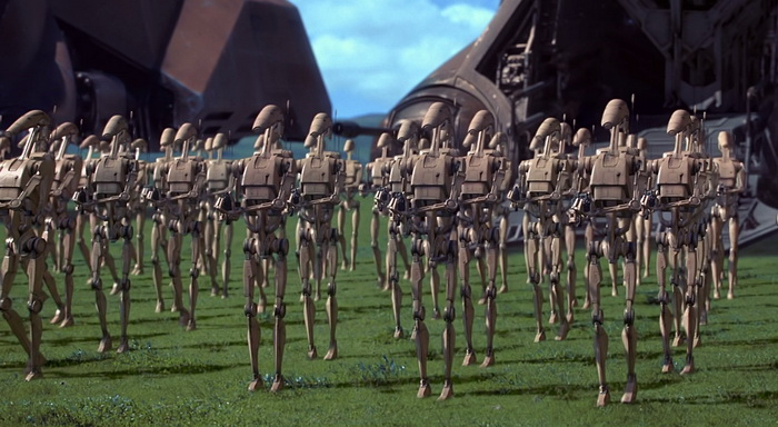 The CGI army of droids