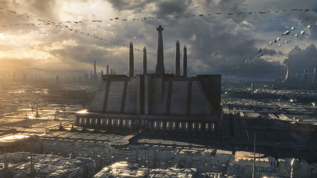 Jedi temple on Coruscant was the symbol and center of the Jedi teachings