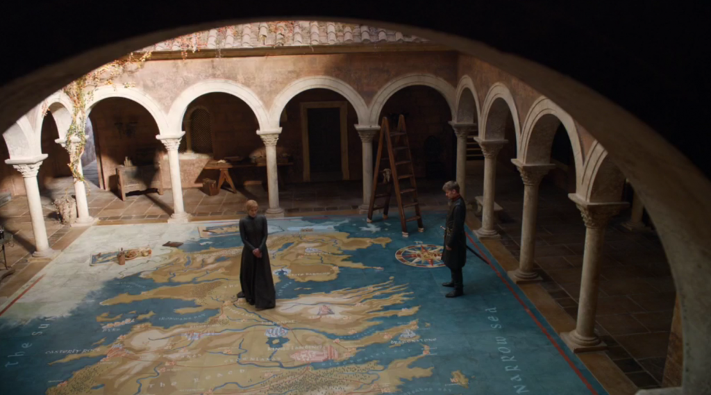 Epic Sisters and Ed Sheeran Game of Thrones Dragonstone Review Cersei and Jaimie Floor Map of the Seven Kingdoms